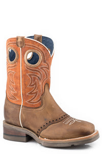 Saddle Up Boot Little Kids Boots Waxy Brown Leather Wsaddle Vamp