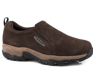 Air Light Slipon Mens Shoes Brown Suede Leather Slip On