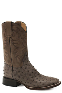 All In Boot Mens Boots Brown Ostrich Vamp