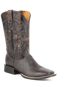 Lazard Boot Mens Boots Brown Faux Teju Vamp Brown Shaft