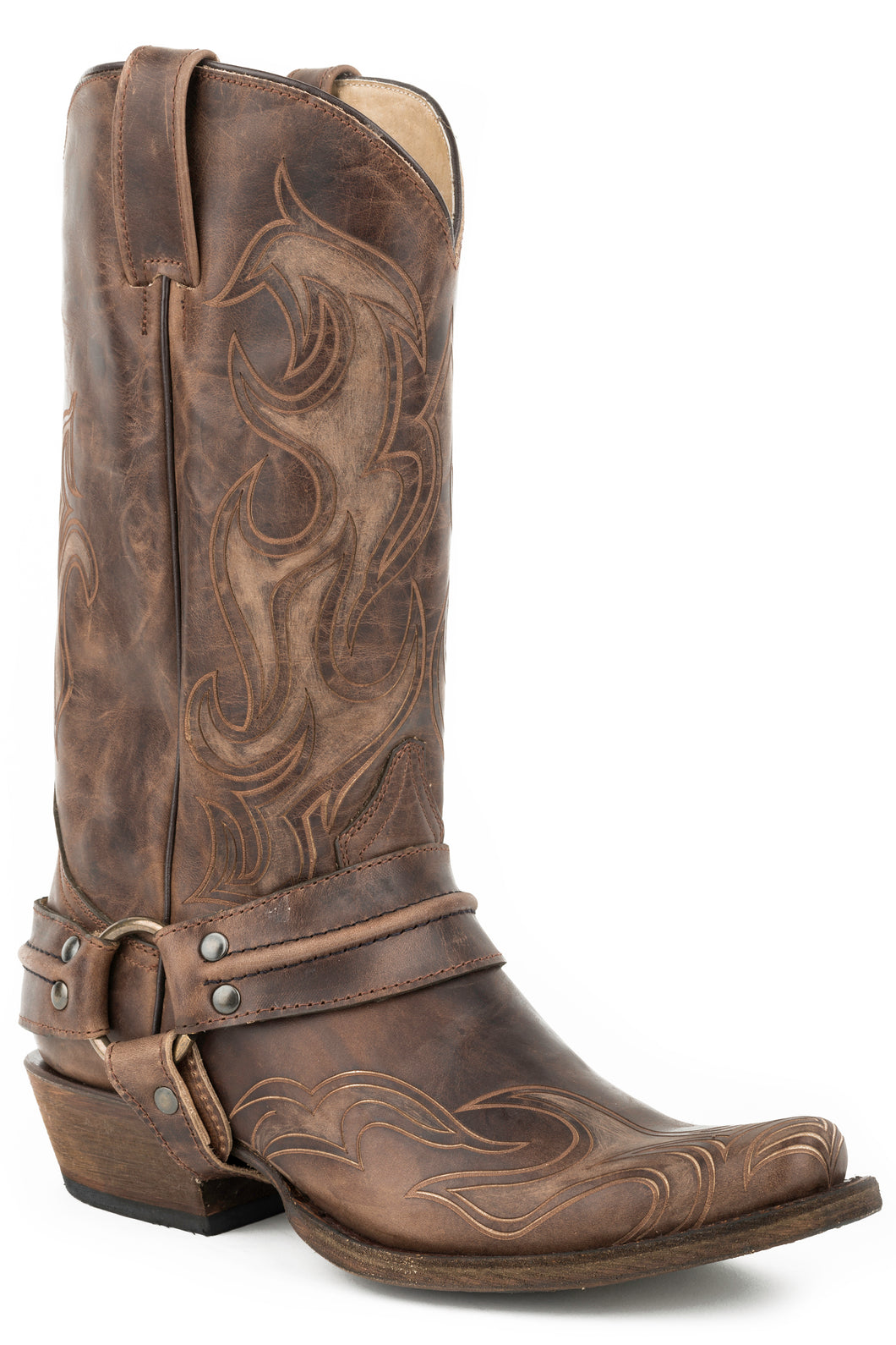 Hurricane Bandit Boot Mens Boot Brown Shaft And Lazer Vamp