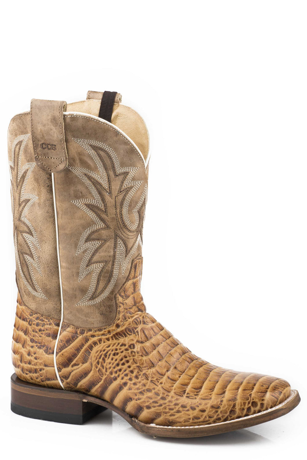 Pierce Ccs Boot Mens Boots Embossed Tan Caiman Vamp