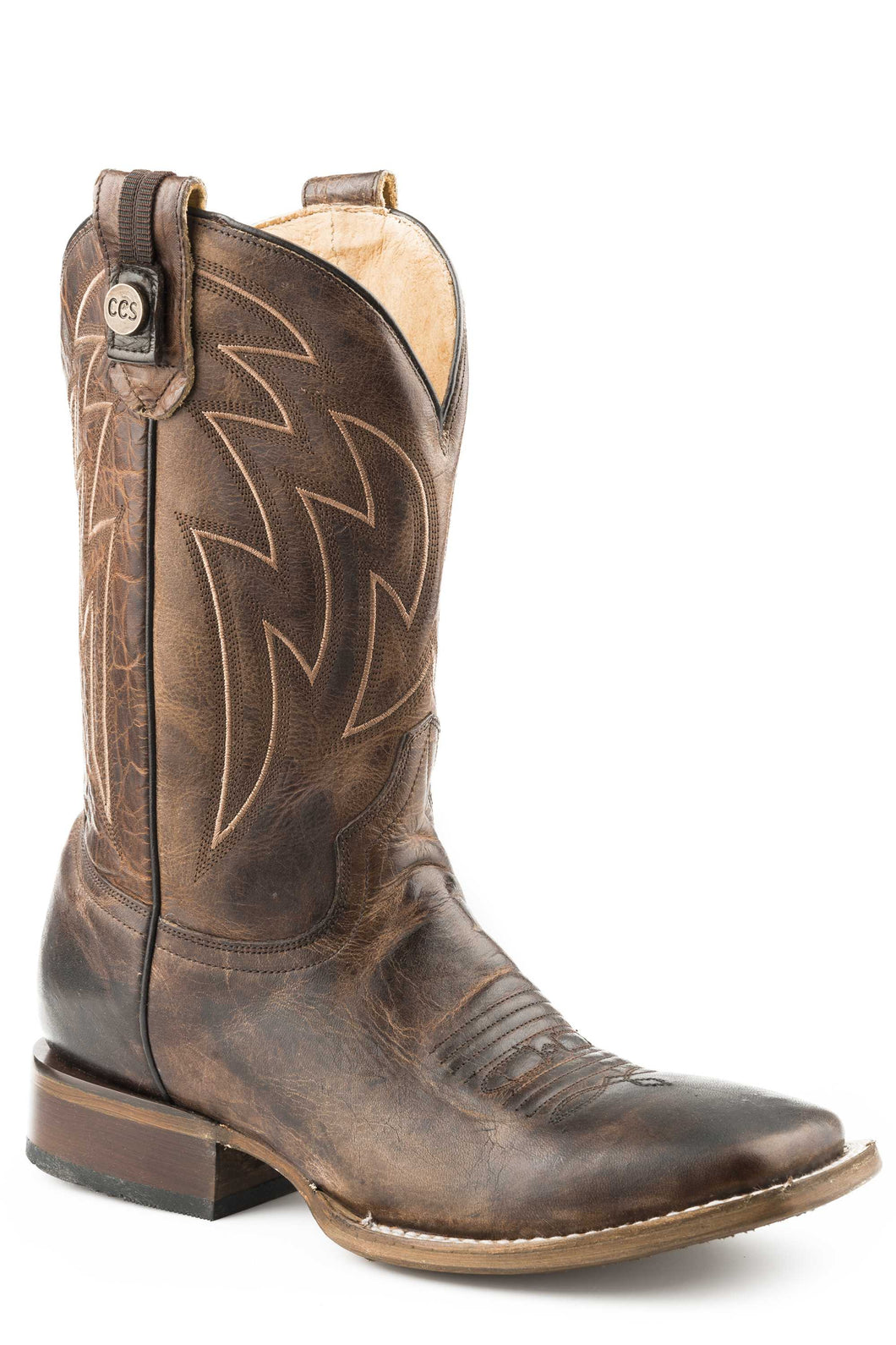 Rider Ccs Boot Mens Boots Burnished Tan Vamp Rider Pckt Outside