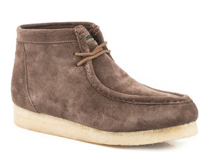 Gum Sticker Casual Womens Casual Brown Suede Leather