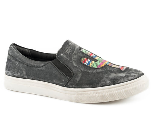 Mane Cactus Casual Womens Casual Rub Off Black Sanded Leather