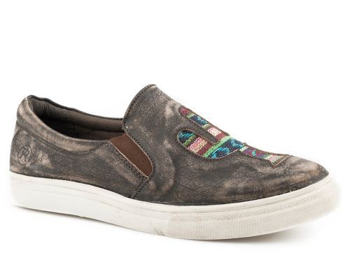 Mane Cactus Casual Womens Casual Rub Off Brown Sanded Leather