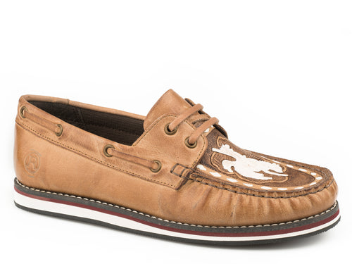 Filly Mocassin Womens Casual Beige Burnished Leather Moccasin