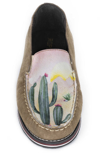 Filly Cactus Sunset Mocassin Womens Casual Tan Suede Leather Slip On