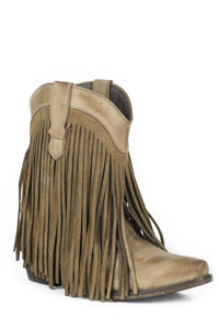 Dylan Boot Womens Boot Tan Leather Fringe High Ankle Boot