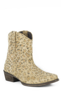 Cheeta Boot Womens Boot Tan Leopard Print Suede Ankle Boot