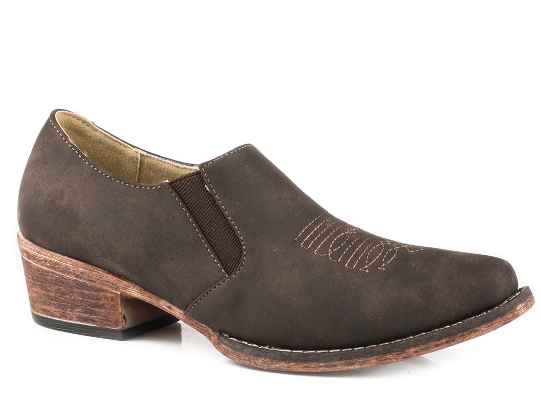 Birkita Classic Boot Womens Shoes Snip Toe Vintage Brown Shoe Boot