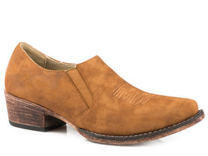 Birkita Classic Boot Womens Shoes Snip Toe Vintage Tan Shoe Boot