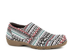 Johnnie Casual Womens Casual Black Multi Color Southwestern Aztec