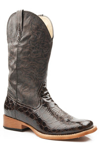 Crocodile Boot Ladies Boot Croco Embossed Faux Leather
