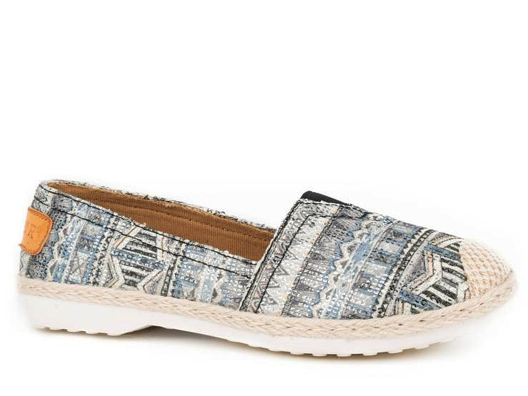 Bianca Casual Womens Shoe Blue Southwest Sequin Fabric