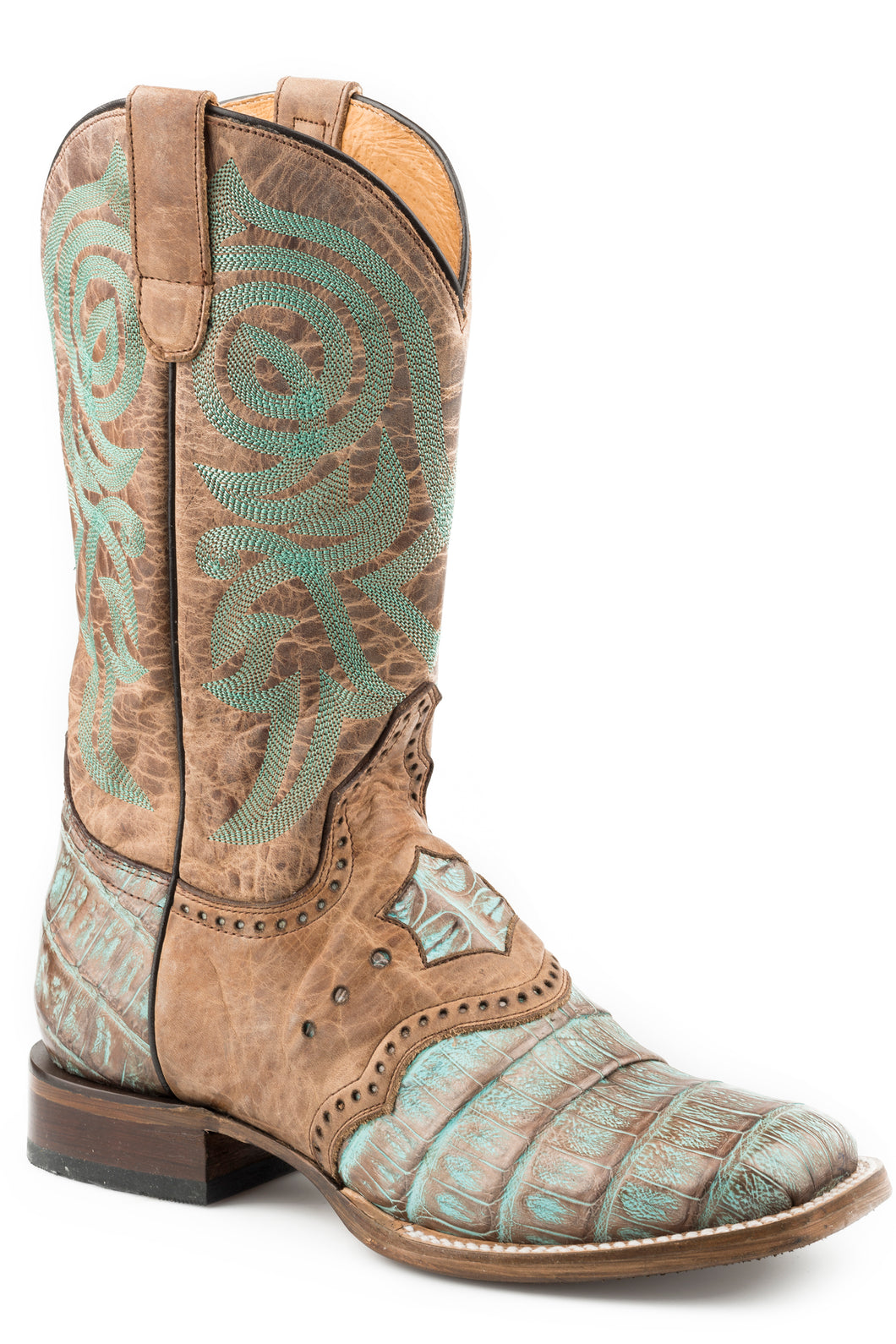 Deadwood Boot Womens Boots Copper And Turquoise Caiman Wsaddle