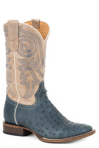 All In Boot Womens Boots Oiled Blue Ostrich Vamp