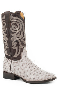 All In Boot Womens Boots White Brushoff Ostrich Vamp