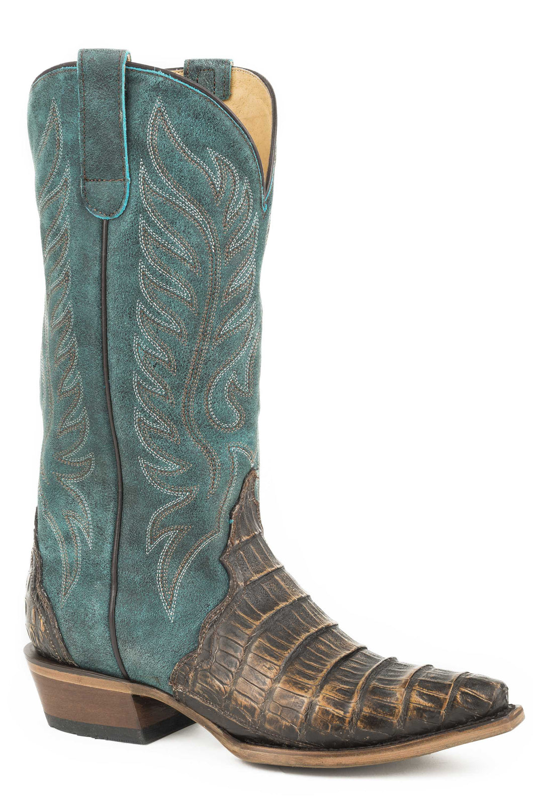 Trudy Triad Boot Womens Boots Brown Caiman Vamp