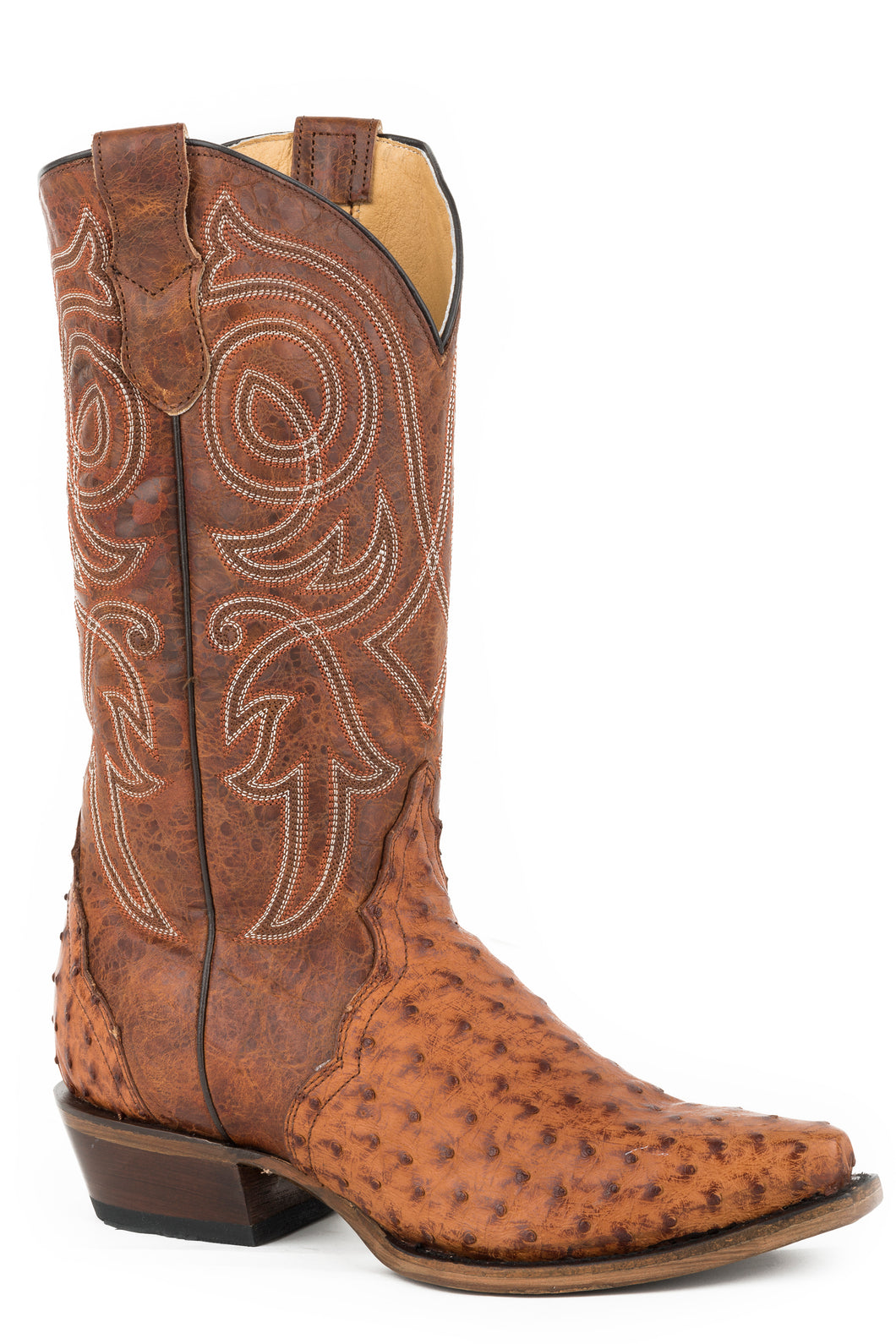 Trudy Triad Boot Womens Boots Burnished Cognac Ostrich Vamp