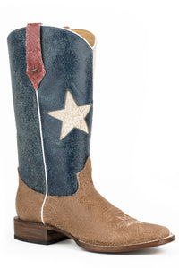 "Texas Star Boot Ladies Boot Vintage Tex Flagsquare Toe13"" Shaft"
