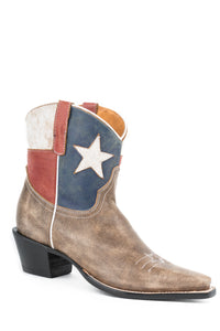 "Little Texas Boot Ladies Boot Star Boot - Snip Toe 7"" Shaft"