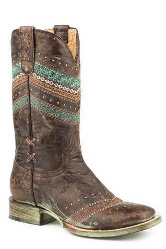 Adabelle Boot Womens Boots Distressed Brown Vamp And Shaft