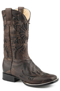 Arroyo Boot Womens Boots Burnished Brown Leather Vamp Shaft