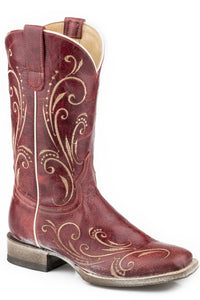 Free Flow Boot Womens Boots Burnished Red Leather Vamp Shaft