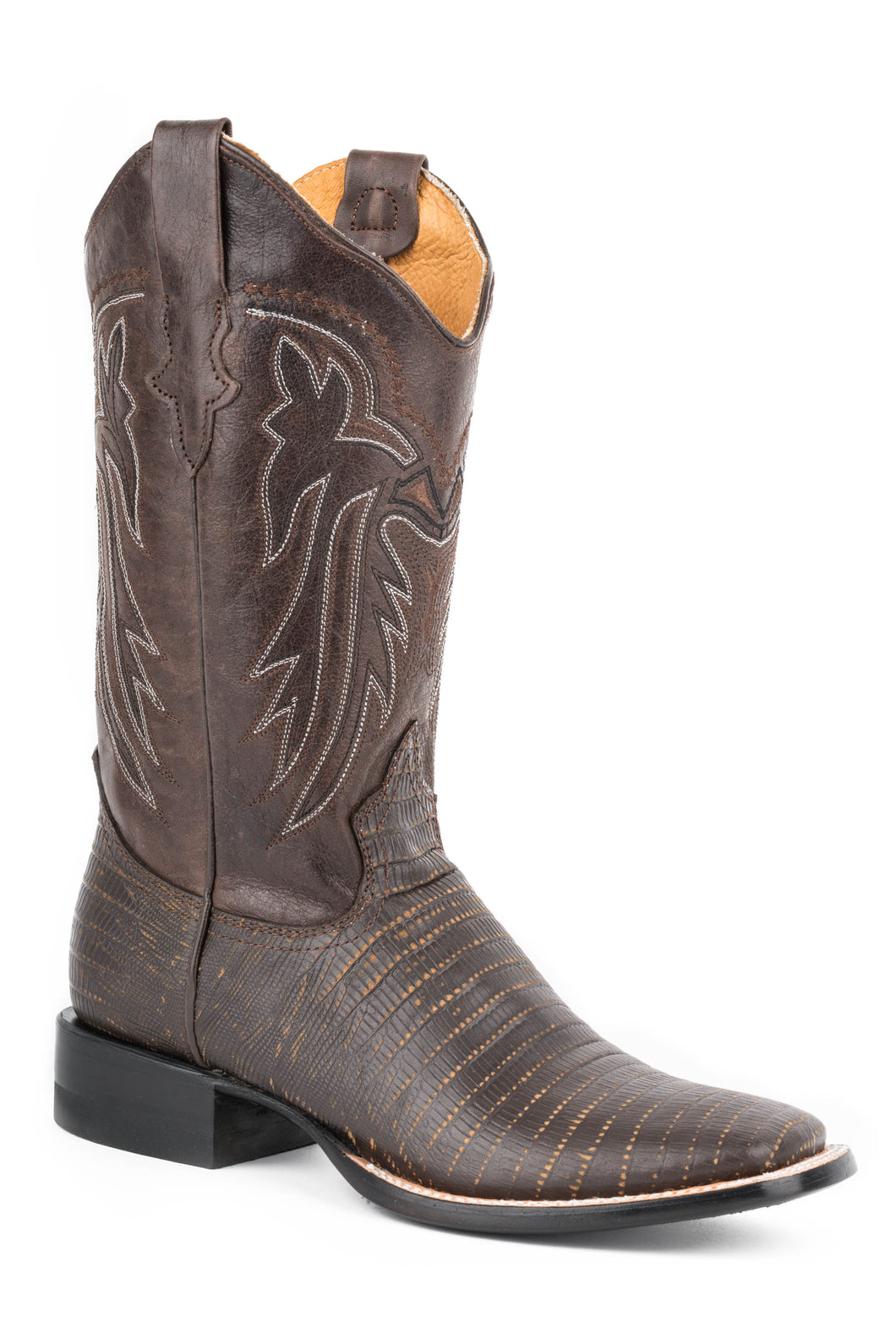 Lizzy Boot Ladies Boot Brown Faux Teju Vamp Brown Shaft