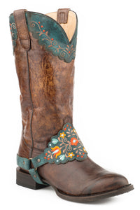 Lillian Boot Womens Boots Distressed Brown Vamp And Shaft
