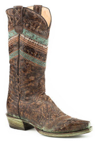 Adabelle Boot Womens Boots Distressed Brown Vamp Shaft