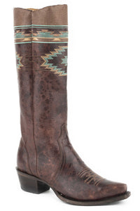 Maricopa Snip Boot Womens Boots Marbled Brown Vamp Shaft