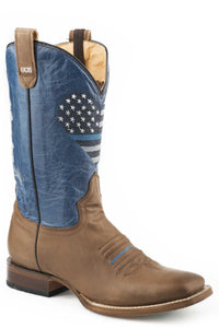 Thin Blue Line Heart Ccs Boot Womens Boots Burnished Brown Leather Vamp