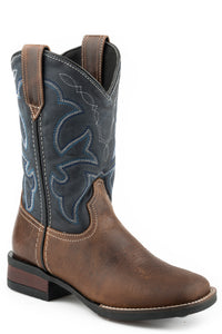 Monterey Boot Big Kids Boots Brown Burnished Leather Vamp