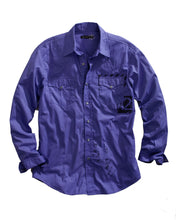 Tin Haul Collection Tinhaul Mens Long Sleeve Shirt 7528c1 Purple - Solid Poplin