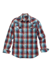 Tin Haul Collection Tinhaul Mens Long Sleeve Shirt 1552 Red Granite Pliad