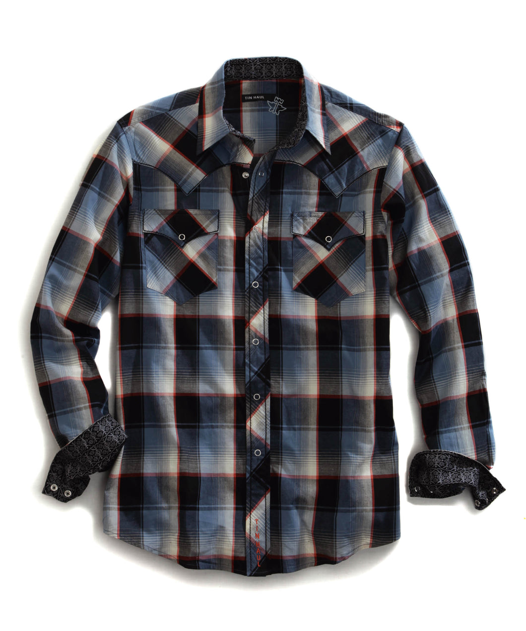 Tin Haul Collection Tinhaul Mens Long Sleeve Shirt 0729 Maui Plaid