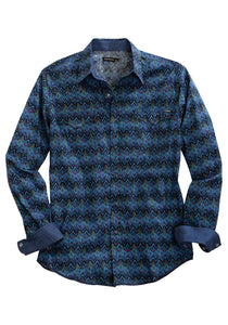 Tin Haul Collection Tinhaul Mens Long Sleeve Shirt 1342 Diamond Static