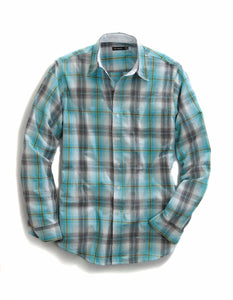 Tin Haul Collection Tinhaul Mens Long Sleeve Shirt 0455 Bright Idea Plaid