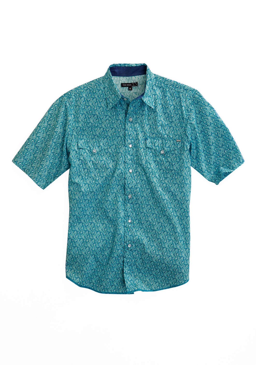 Tin Haul Collection Tinhaul Mens Short Sleeve 1797 Mod Paisley