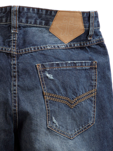 Tin Haul Guy's Jean Tinhaul Mens Jeans Inside Stripe Lining Desctruction