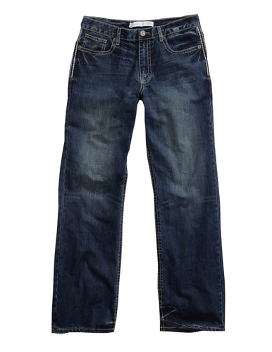 Tin Haul Guys Jeans Tinhaul Mens Jeans Chain Stitching On Back Pkt