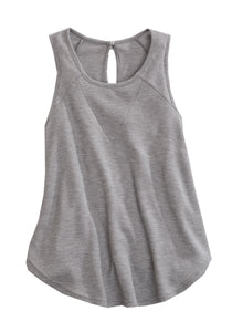 Tin Haul Collection Tinhaul Womens Sleeveless 1668 Heather Grey Thermal Knit Tank
