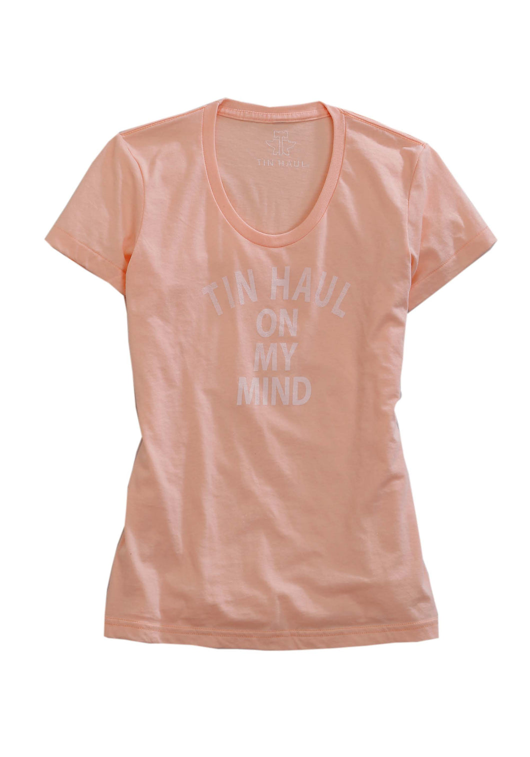 Tin Haul Gal's T-shirt Collection Tinhaul Womens Short Sleeve Shirt Scoop Neck Tee Wtin Haul On My Mind