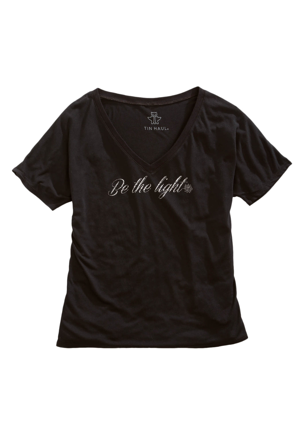 Tin Haul T-shirts Tinhaul Womens Short Sleeve Shirt Tin Haul Be The Light Screen Print