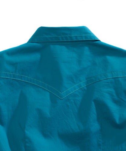 Tin Haul Collection Tinhaul Womens Long Sleeve Shirt 0739 Solid Poplin - Teal