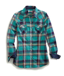 Tin Haul Collection Tinhaul Womens Long Sleeve Shirt 0724 Forte Plaid