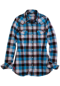 Tin Haul Collection Tinhaul Womens Long Sleeve Shirt 1330 Hot Buffalo Checks