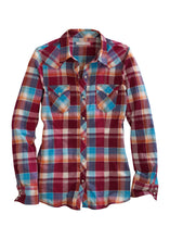Tin Haul Collection Tinhaul Womens Long Sleeve 1438 Cranberry Plaid